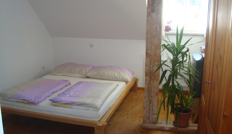 The third bedroom is located in the pitched roof and is ideal for children