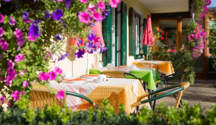 In summer you can also enjoy your breakfast on the cozy terrace.