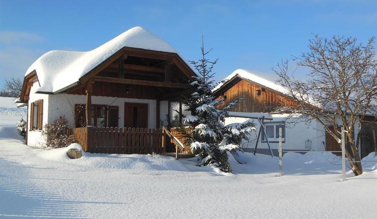 Gartenhaus im Winter (© Privat)