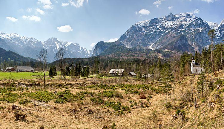 Panorama mit Dietlkapelle (© TVB Pyhrn-Priel/Sulzbacher)