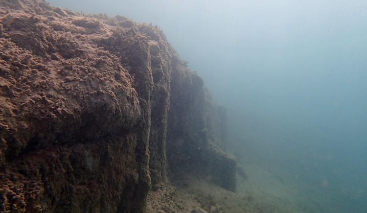 Pfahlbau unter Wasser - Station Seewalchen 1 (© Gerald Egger)