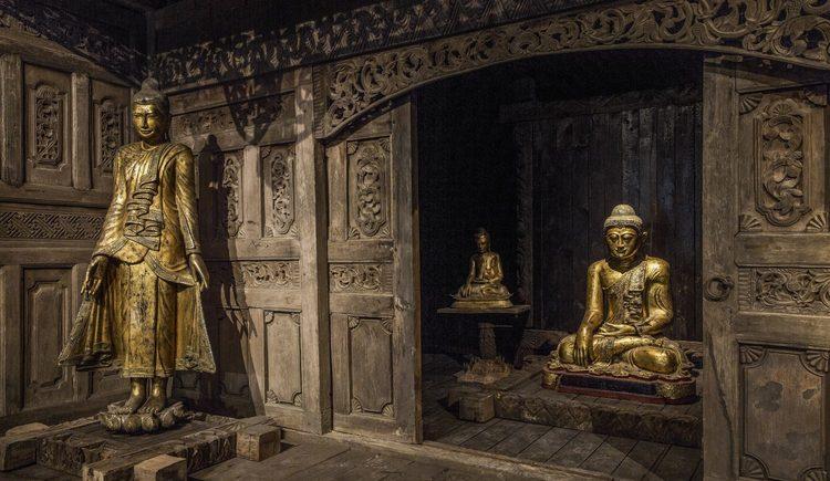 buddhistischer Holztempel aus Java