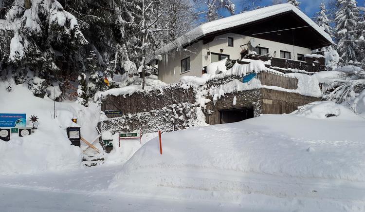 tief verschneit im Winter