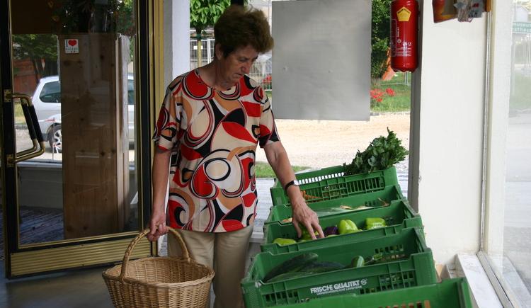 Einkaufen im Bauerneck