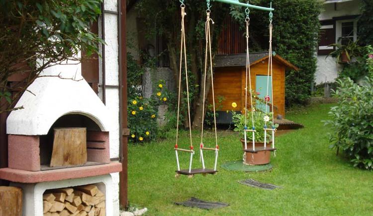 Der Garten des Hauses Unterberger in Bad Ischl bietet zahlreiche Möglichkeiten für Groß und Klein