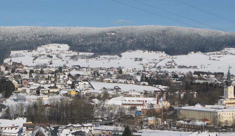 Blick auf Aigen-Schlägl (© Stift Schlägl | Ferienregion Böhmerwald)