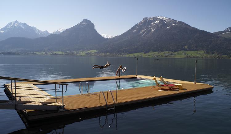 ganzjährig geheiztes Seebad 30 °C (© ROMANTIK HOTEL IM WEISSEN RÖSSL)