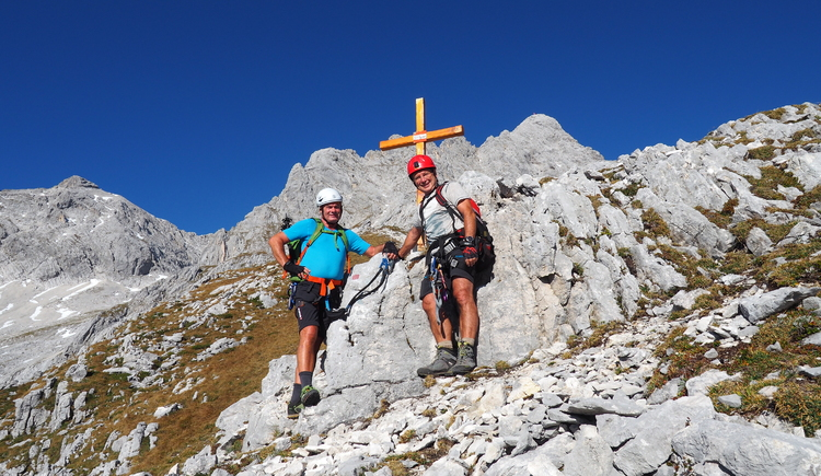 Gr. Priel Klettersteig Holger Friedl Manuela 10.10.2018 10-00-23 (© TVB Pyhrn-Priel/Kniewasser)