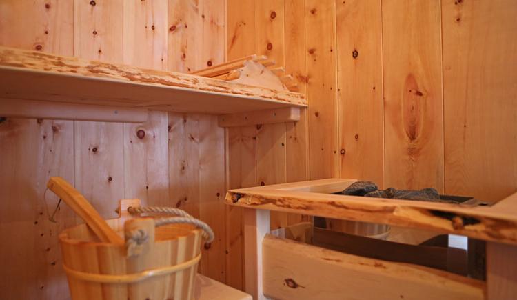 die hauseigene Sauna. (© Karin Egger)