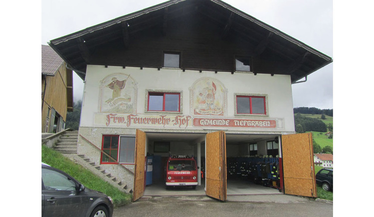house of the fire Brigade, fire engine