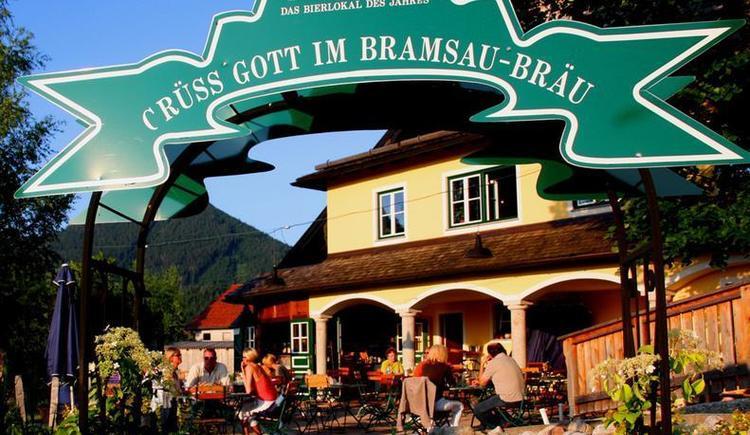 Bramsau Bräu - pub garden