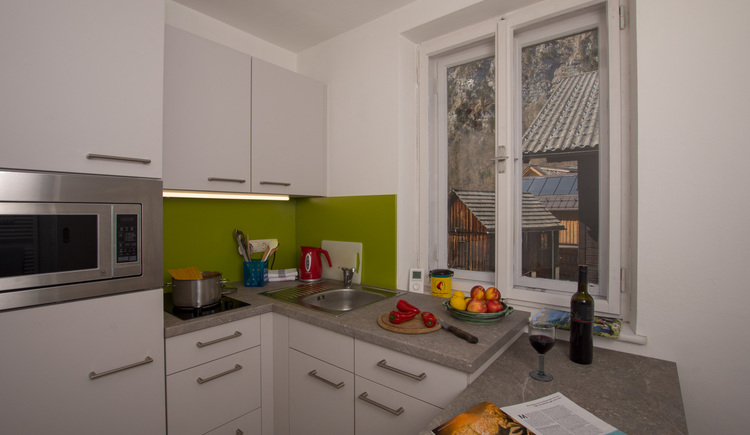 The kitchen at Haus am Bach invites you for cooking.