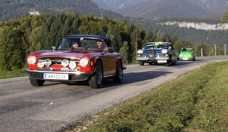 Panoramic road to Predigstuhl, every year takes place on the 6km long route, the Goisern Classic, a classic car rating ride.