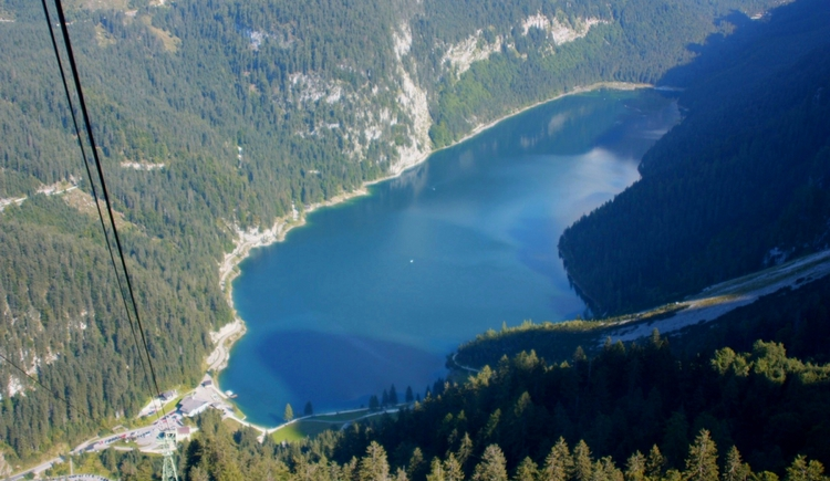 "Lake ""Gosausee\"" seen from \""Zwieselalm\"""