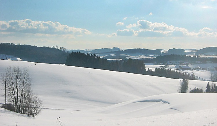 Winterwanderweg rund um Rohrbach-Berg.