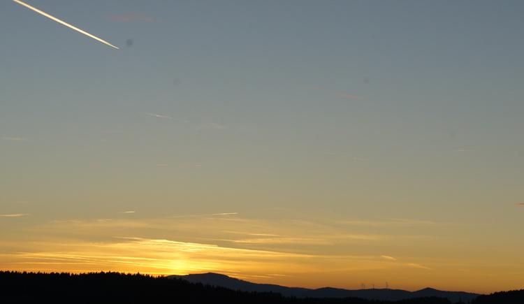 Sonnenuntergang beim Radeln (© Petra Elmecker)