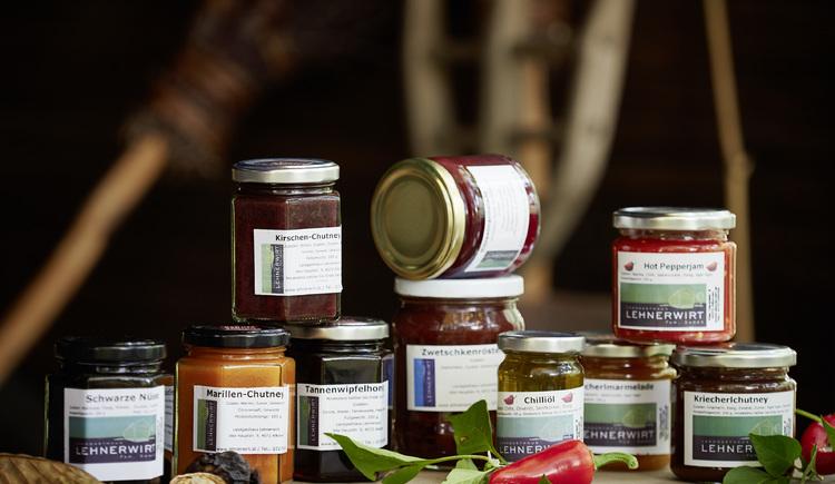 Marmelade, Honig, Chutney - die Aromen aus dem Eferdinger Becken im Glas eingefangen. Landgasthaus Lehnerwirt, Alkoven