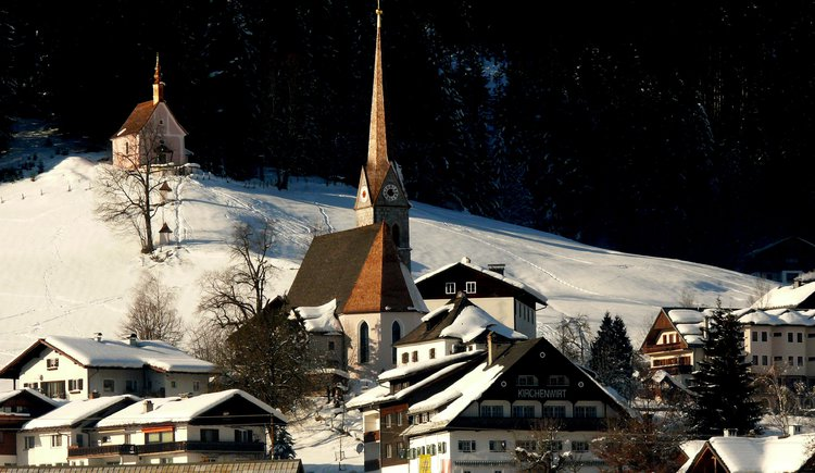 Here you can see the church of Gosau