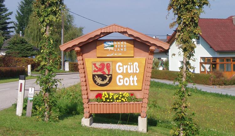 Begr\u00fc\u00dfungstafel (© Gemeindeamt St. Ulrich im Mühlkreis)