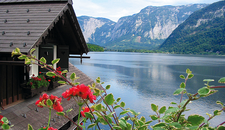 View over the Hallstatt lake from Appartement Fallnhauser, Hallstatt.