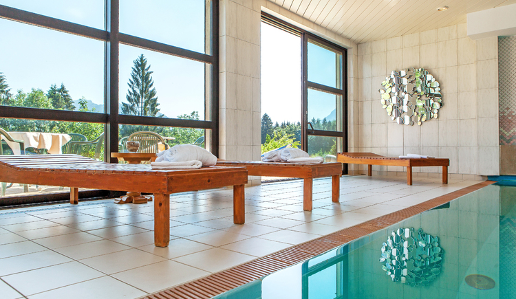 Relax in the hotel's own indoor pool with a wonderful panorama