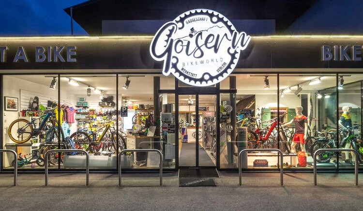 Panorama view of the Goisern Bikeworld Shop (© Fred Ruff)