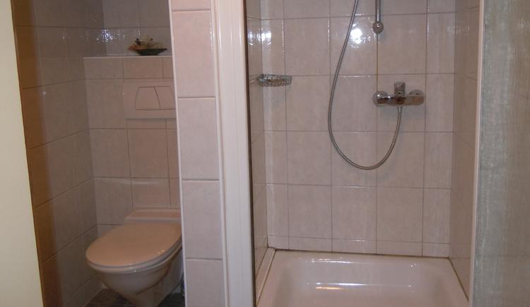 Dusche und WC Fewo Miesenberger 1