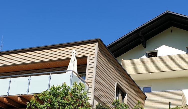 Außenansicht Mountain View Wood & Mountain View (© Ferienhaus Mountain View)