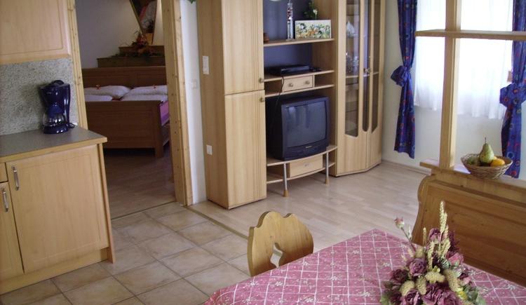 Ferienwohnung Huem, Hinterstoder: Wohnzimmer der Fewo 1