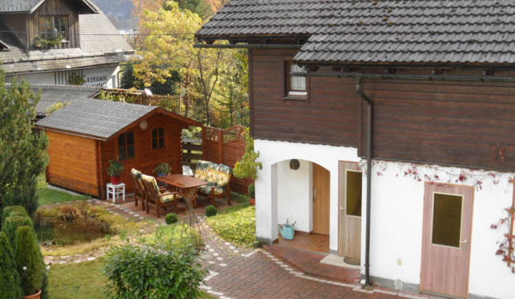 The outdoor view of the holiday apartment Cijan in Hallstatt Lahn