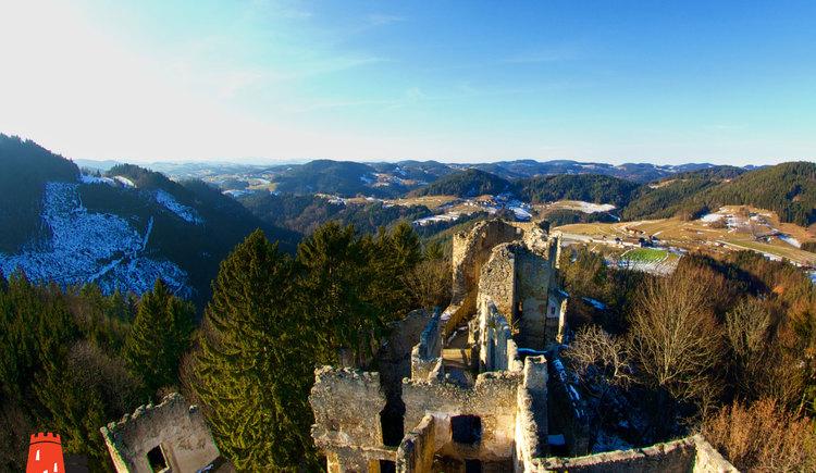 Burgruine Prandegg im Winter (© Touristik Mühlviertler Kernland (c) HappyFotoSafari/Jakob Kriegl)