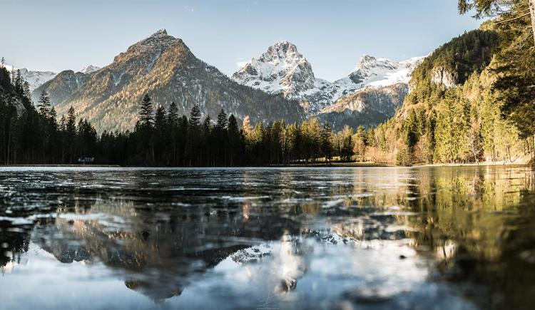 Schiederweiher mit Eis (© Markus Kohlmayr)