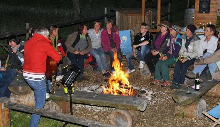 Lust am Leben Outdoor Adventure Lagerfeuer