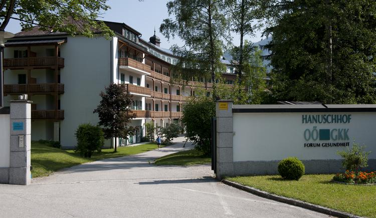 Vorderansicht des Gesundheitszentrum Hanuschhof's der OÖ Gebietskrankenkasse in Bad Goisern am Hallstättersee