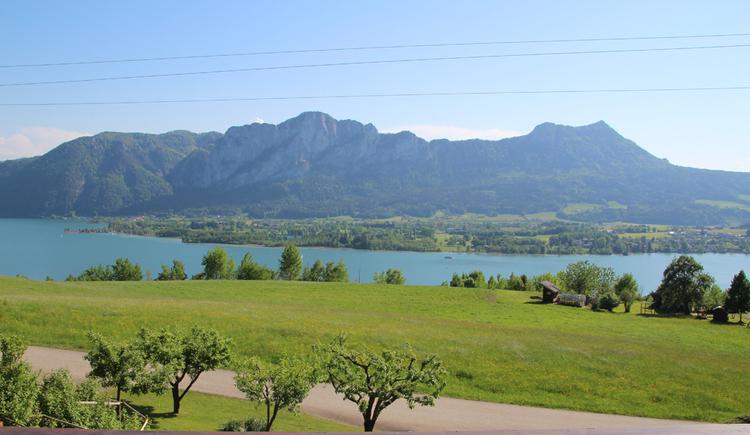 Landschaft, See, im Hintergrund die Berge