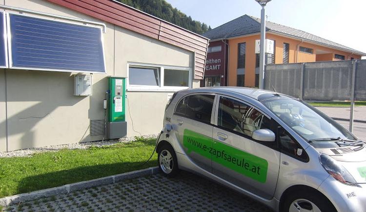 Stromtankstelle Roßleithen (© Energieautarke Region Pyhrn-Priel)