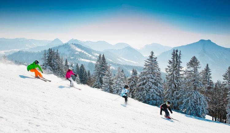 Skifahren im Skigebiet Gaissau-Hinterse (© Fuschlseeregion - Erber)
