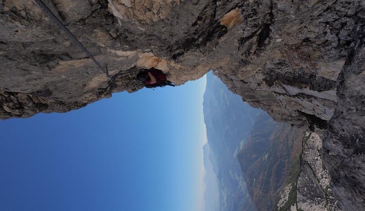 Gr. Priel Klettersteig Holger Friedl Manuela 10.10.2018 11-31-21 (© TVB Pyhrn-Priel/Kniewasser)