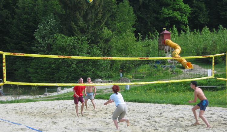 Beachvolleyball auf der Freizeitanlage Neustift