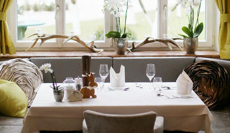 Laid table Hotel Eichingerbauer **** Superior (© Sabine Sperr)