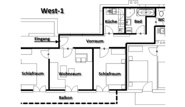 Plan - room layout of the apartment