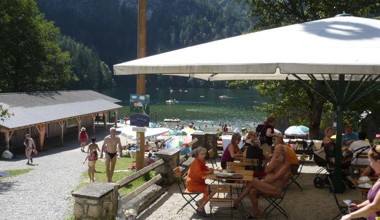 Gastgarten vom Gasthaus Seebauer am Gleinkersee