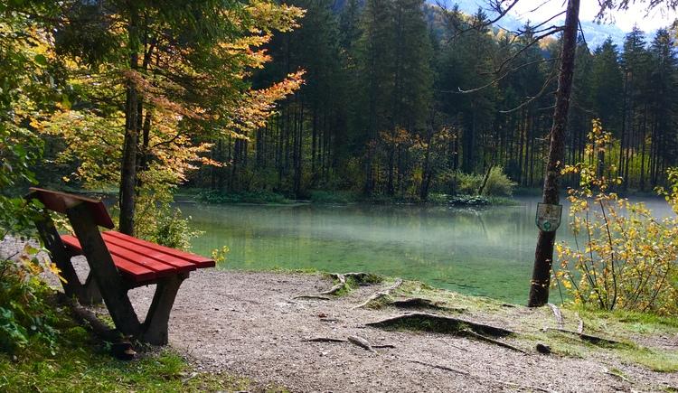 Benches invite you to rest and linger. (© Ferienregion Dachstein Salzkammergut)
