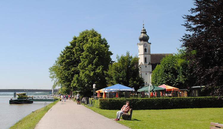 Aschach an der Donau, Donaupromenade, Radweg