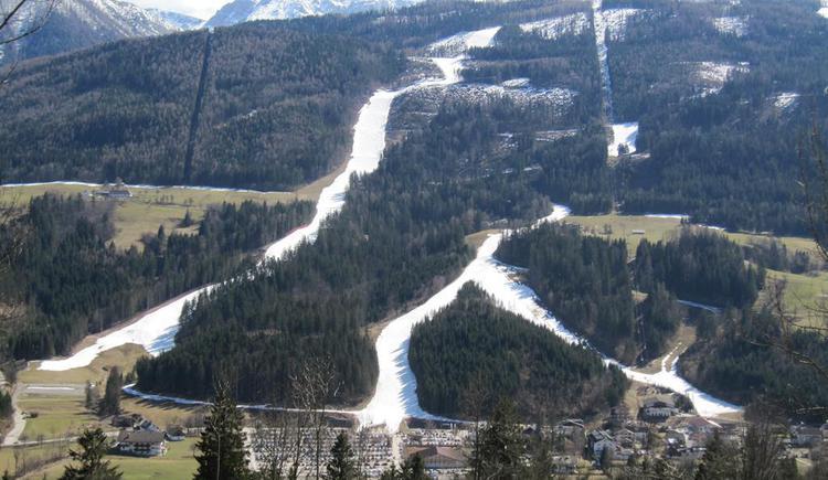 daher bis Ende März Abfahrten bis ins Tal möglich (© Berghof Sturmgut)