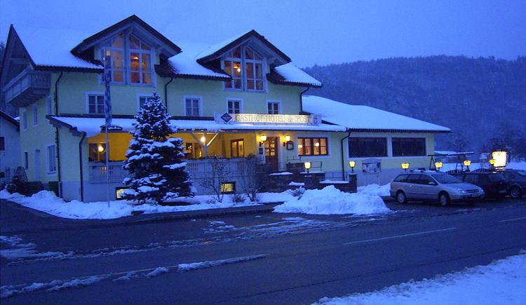 Gasthof Hotel zur Post Erlau im Winter (© Waldinsperger)