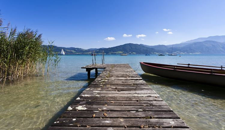 landing stage at the beach (© Hotel Haberl)