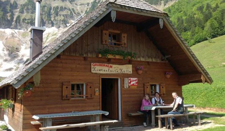 Hinterleitenhütte auf der Gruberalm. (© Fam. Kühlleitner)