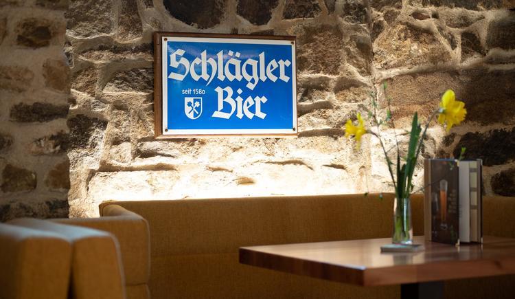 Stiftskeller Schankraum Tafel Schlägl Bier (© Stift Schlägl / Harald Füchsl)