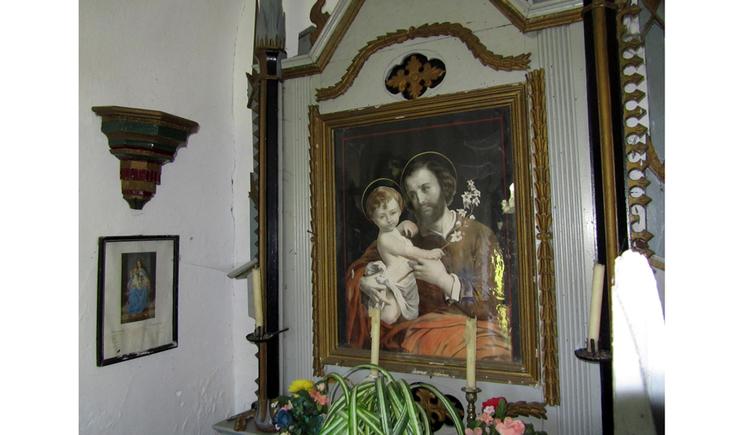 Blick auf ein Heiligenbild